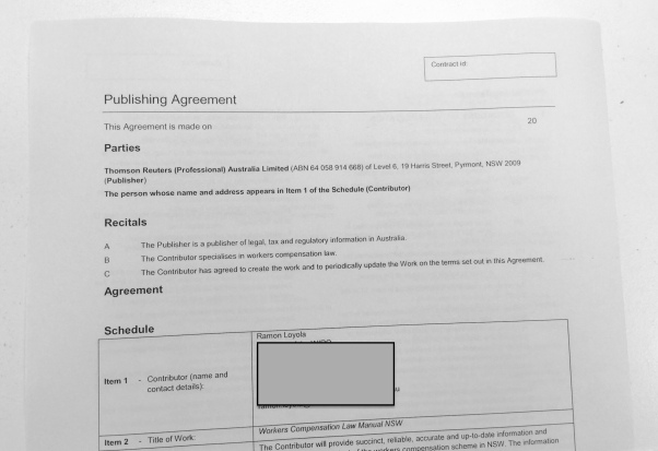 thomson reuters publishing agreement
